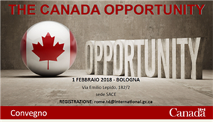 "SACE SIMEST hosts ""The Canada Opportunity"" event in Bologna"